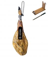 Jamón de bellota 100% ibérico Altanera + jamonero + cuchillo