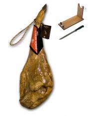 Szynka iberyjska de cebo z certyfikatem Revisan Ibericos w całości + stojak + nóż do krojenia