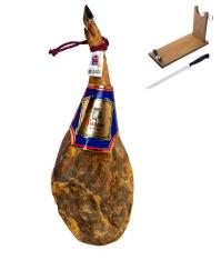 Szynka Naturalna DO Teruel Jamones Pastor w całości + stojak + nóż do rojenia szynki