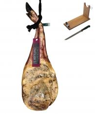 Szynka przednia iberyjska de cebo Arturo Sanchez w całości + stojak + nóż do krojenia