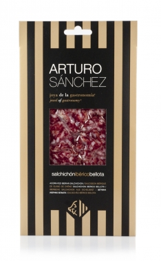 Kiełbasa Salchichon iberyjski de bellota gran reserva Arturo Sanchez krojona ręcznie